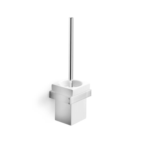 Skuara Wall MountedToilet Brush and Holder by WS Bath CollectionsSkuara Wall MountedToilet Brush and Holder by WS Bath Collections