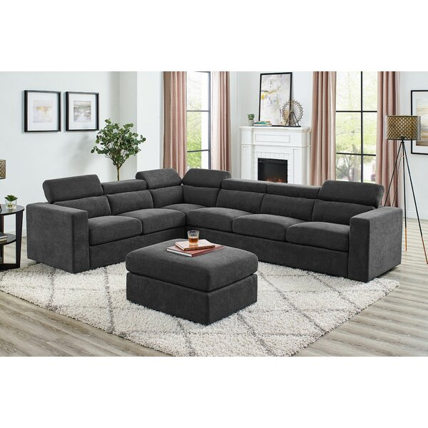 Raven Legend Symmetrical Sectional Sectional With Ottoman By Orren Ellis