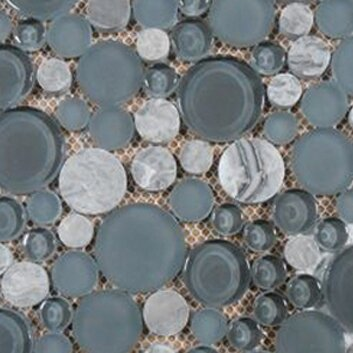 Lucente 12 x 12 Glass Stone Blend Circle Mosaic Tile in Concordia by Emser Tile