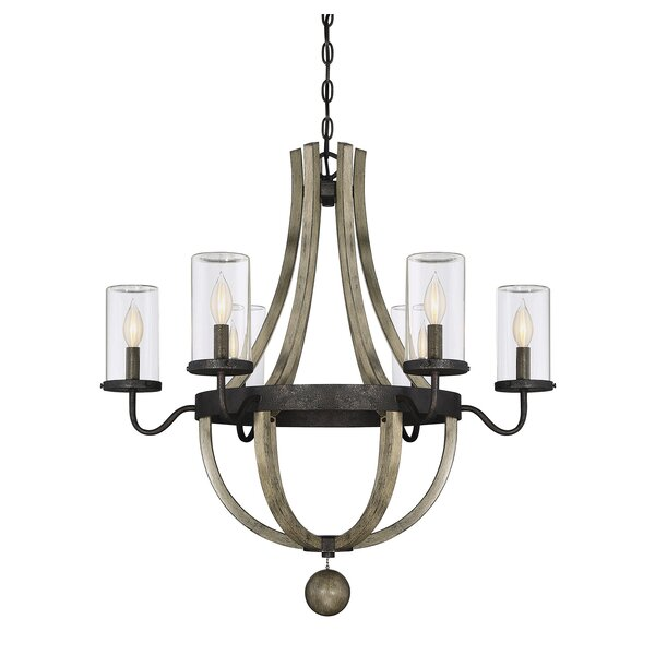 Mott 6-Light Outdoor Chandelier by Laurel Foundry Modern Farmhouse