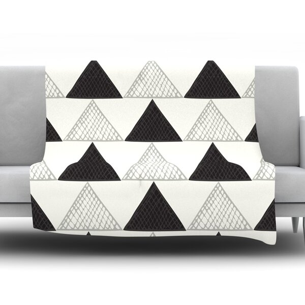 TextuTriangles by Laurie Baars 60 Fleece Blanket by East Urban Home