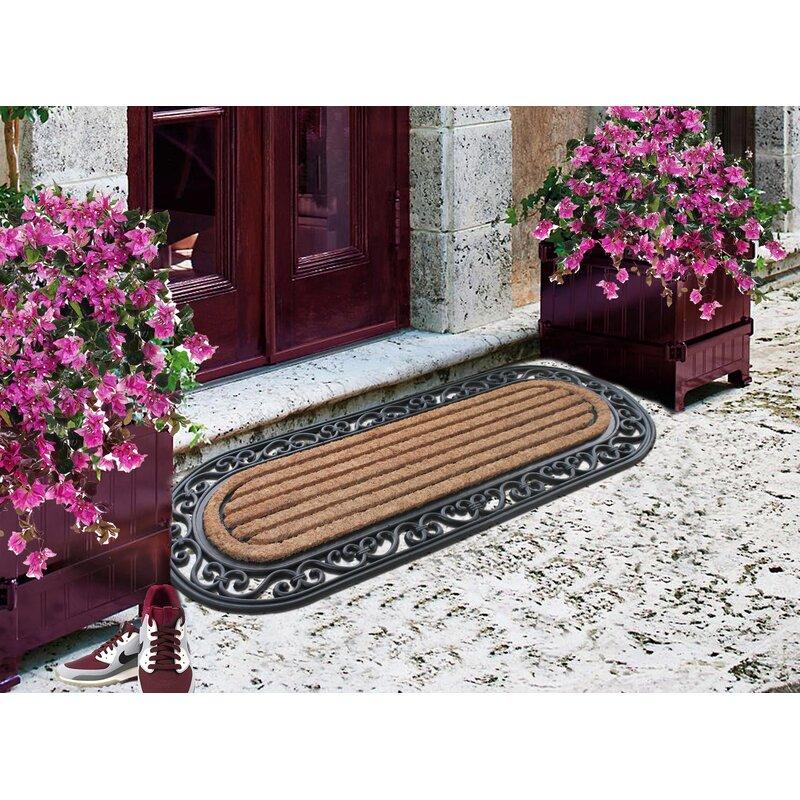 Door Mat Allium Grey Polypropylene Doormat Rubber Back Non Slip Matting Floor