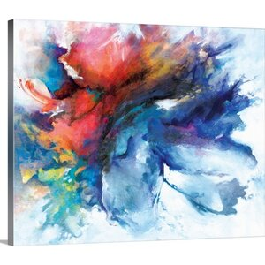 'Color Burst' Painting Print on Wrapped Canvas by Great Big Canvas