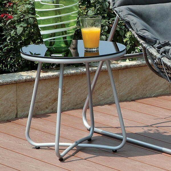 Draco Aluminum Side Table by Ebern Designs