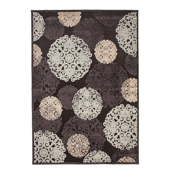 Baxter Charcoal/Ivory/Light Blue Area Rug by Rosdorf Park