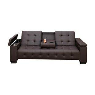 Cheesman Adjustable Sofa with Dropdown Console