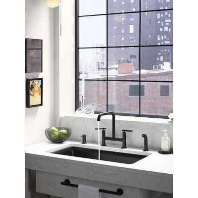 Kohler Deck Mount Kitchen Sink Faucet Matte Black Faucets