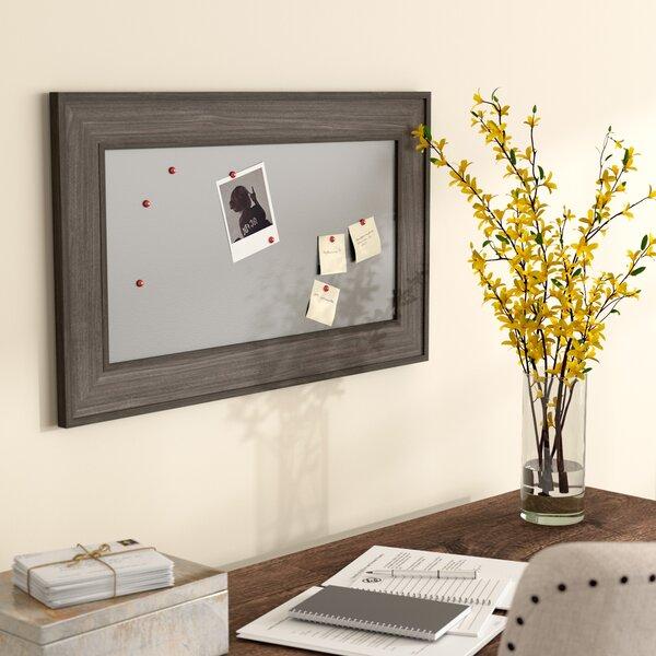 Wood Magnetic Wall Mounted Bulletin Board by Gracie Oaks