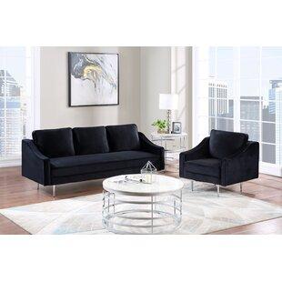 Allasia 2 Piece Velvet Living Room Set by Orren Ellis