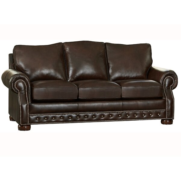 Pelaez Leather Sofa By Canora Grey