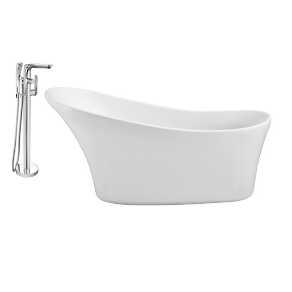 63 x 28 Freestanding Soaking Bathtub by Wildon Home ®