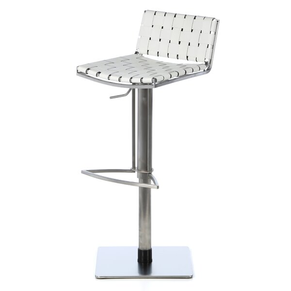 Liam Adjustable Height Swivel Bar Stool by Safavieh