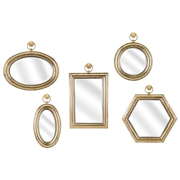 Gold 5 Piece Wall Mirror Set by Darby Home Co
