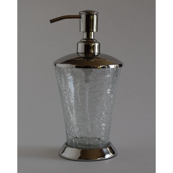 Darien Hand Crafted Crackle Glass Soap Dispenser by Charlton Home