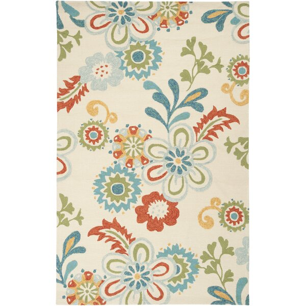 Chasse Blue/Red Indoor/Outdoor Area Rug by Winston Porter