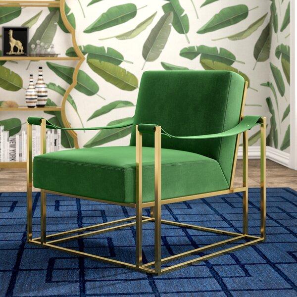 Harald Contemporary Solid Armchair by Willa Arlo Interiors