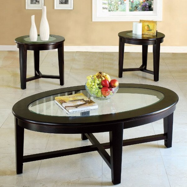 Fortin 3 Piece Coffee Table Set by Winston Porter Winston Porter