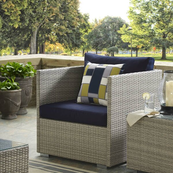 Heiner Patio Chair with Sunbrella Cushion by Highland Dunes