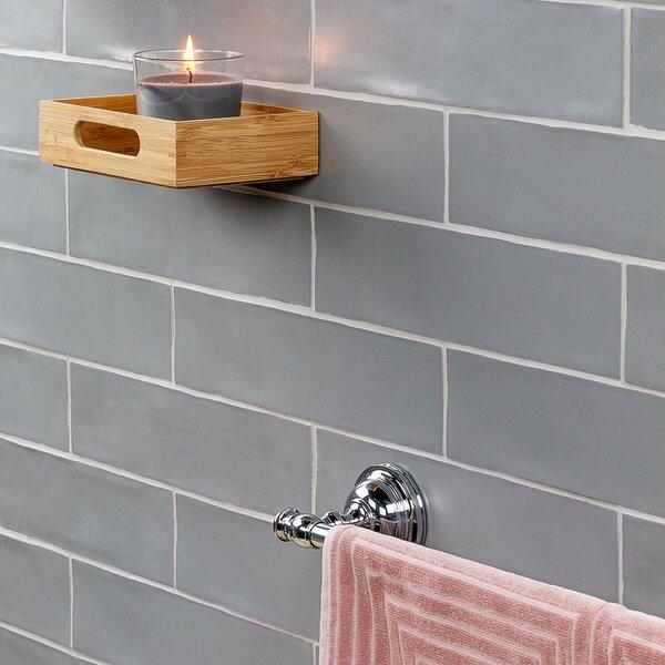 Strait 3 x 12 Ceramic Subway Tile in Gray by Splashback Tile