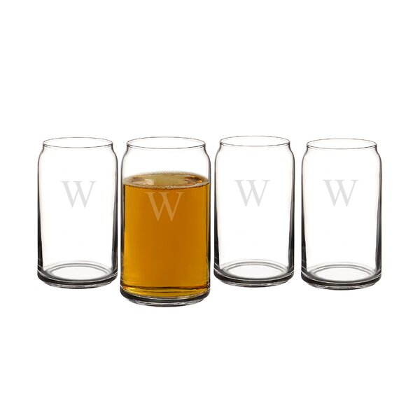 Personalized Craft Beer Can Glass (Set of 4) by Cathys Concepts