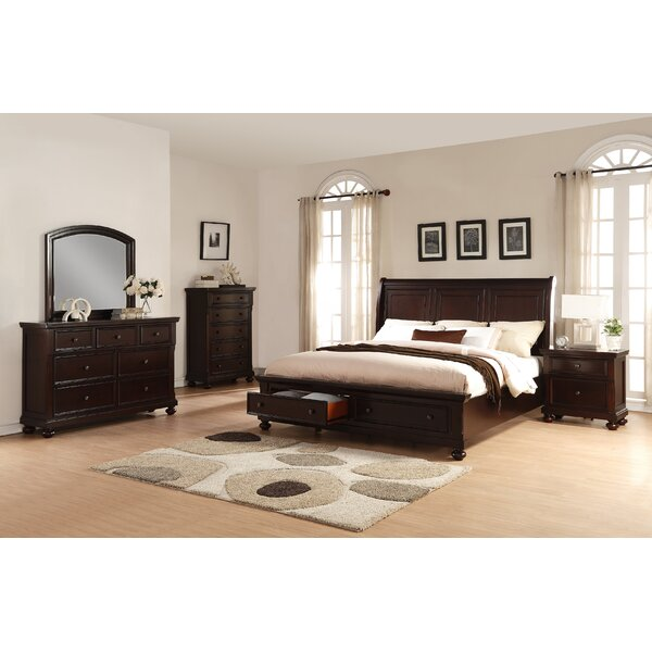 Jaimes Queen Platform Solid Wood 5 Piece Bedroom Set by Breakwater Bay