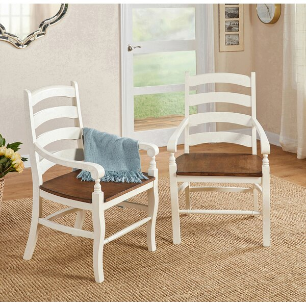 Divij Solid Wood Arm Chair (Set of 2) by Ophelia & Co.