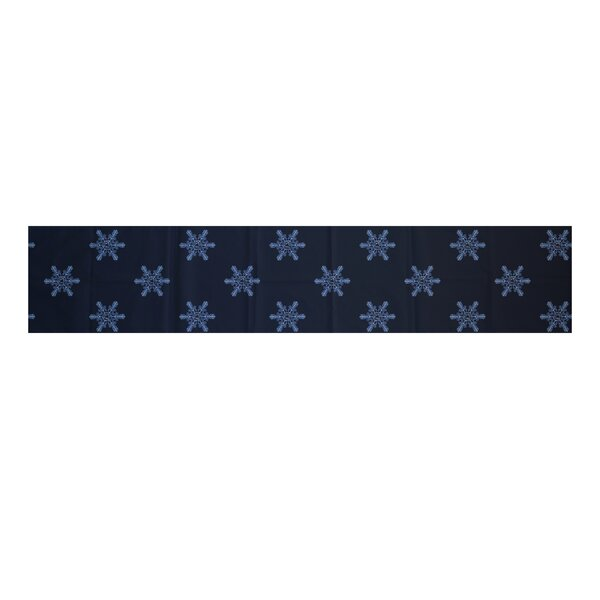 Flurries Decorative Holiday Print Table Runner by The Holiday Aisle