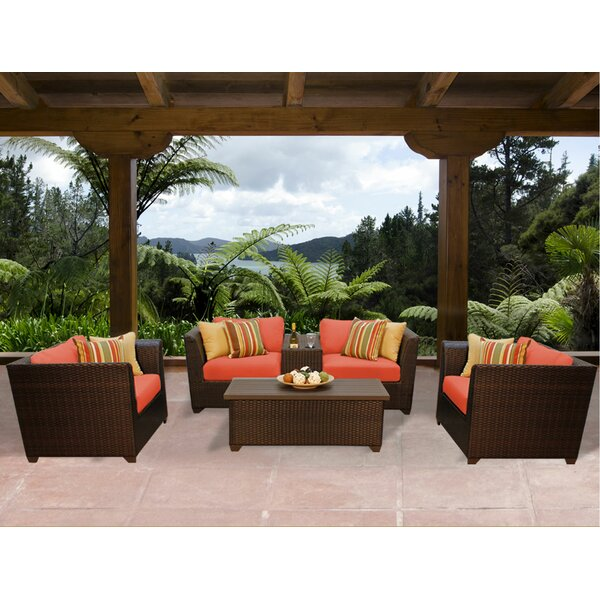 Barbados 6 Piece Rattan Sofa Set with Cushions by TK Classics