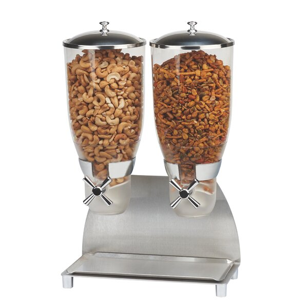 237 Oz. Double Canister Cylinder Cereal Dispenser by Cal-Mil