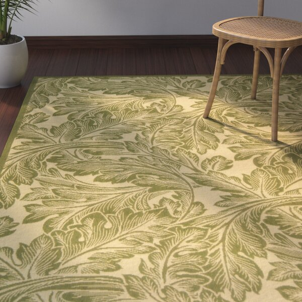 Amaryllis Natural/Olive Indoor/Outdoor Area Rug by Bay Isle Home