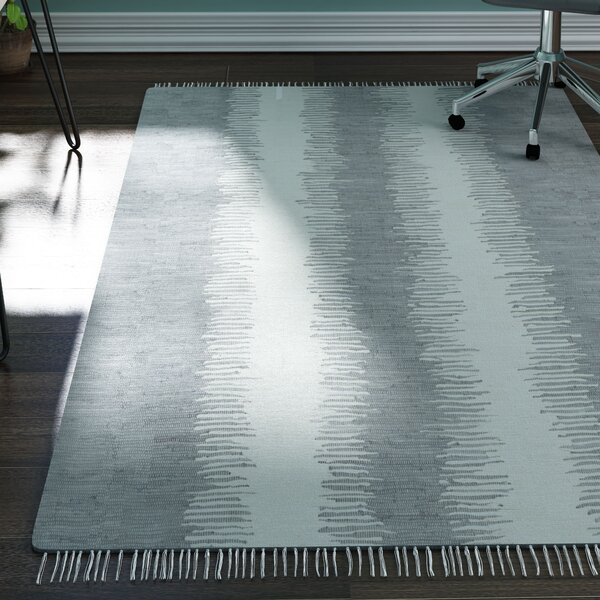 Lotie Hand-Woven Gray Area Rug by Zipcode Design