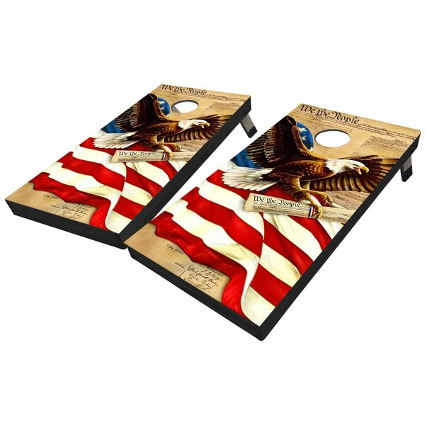 Declaration of Independence and Eagle 10 Piece Cornhole Set by West Georgia Cornhole