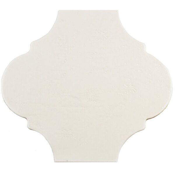Marr 10.38 x 11.38 Porcelain Field Tile in Eggshell White by EliteTile