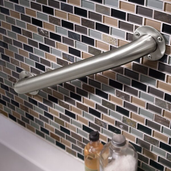 Exposed Mounting Grab Bar in Stainless Steel by Delta
