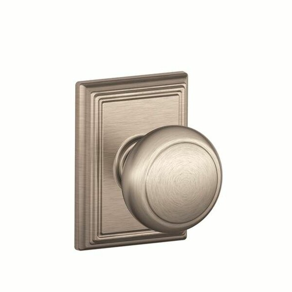 Interior Non Turning Andover Knob and Interior Inactive Deadbolt Thumbturn with Addison Trim