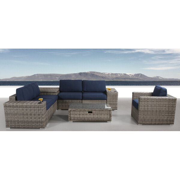 Leamon 9 Piece Sectional Set with Cushions by Sol 72 Outdoor