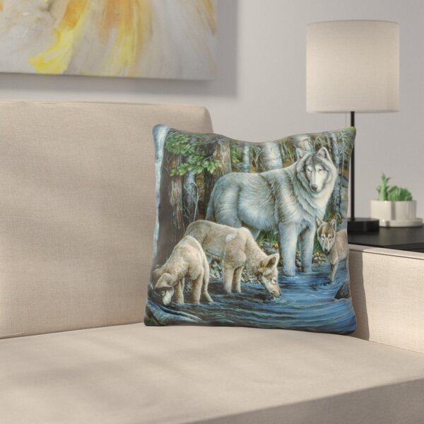 Gentle Morning Throw Pillow by East Urban Home