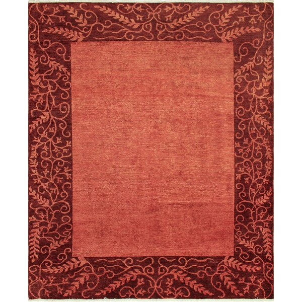 One-of-a-Kind Matlock Hand Knotted Wool Red Area Rug by Isabelline