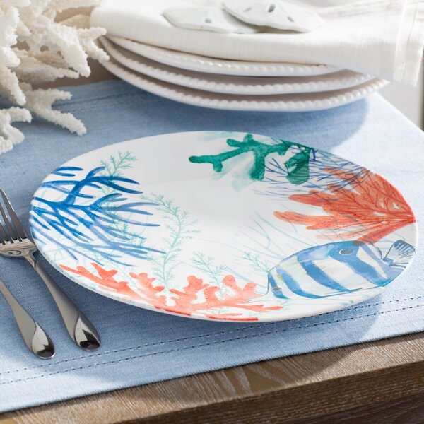 Bolinger Melamine Dinner Plate (Set of 6) by Beachcrest Home