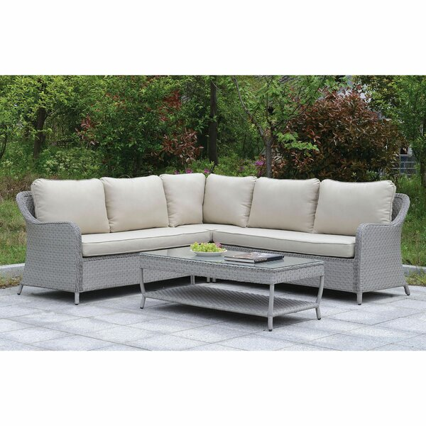 Artemis 2 Piece Sectional Seating Group with Cushions by August Grove