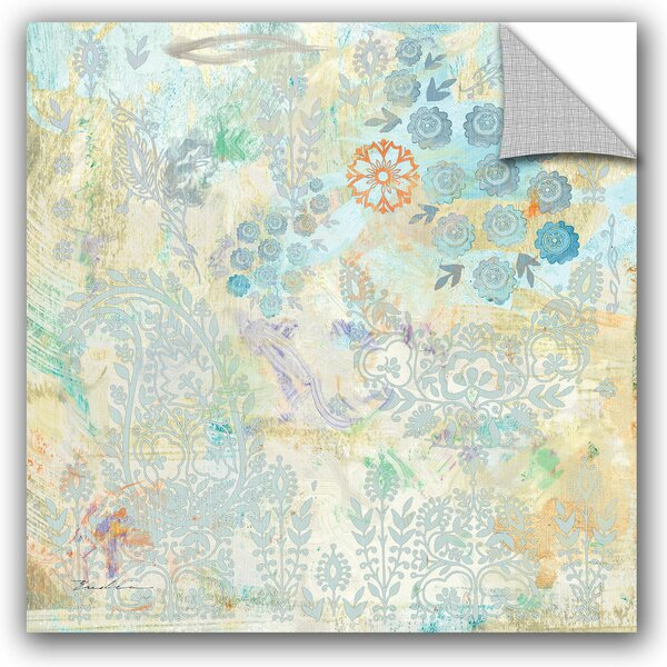 Evelia Sowash Watery Blues Paisley Paper Wall Decal by ArtWall