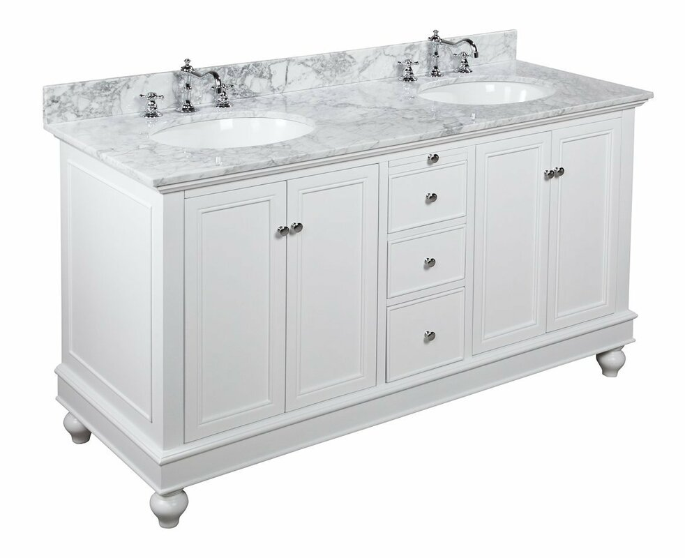 double bathroom vanity. Bella 60  Double Bathroom Vanity Set Reviews Birch Lane