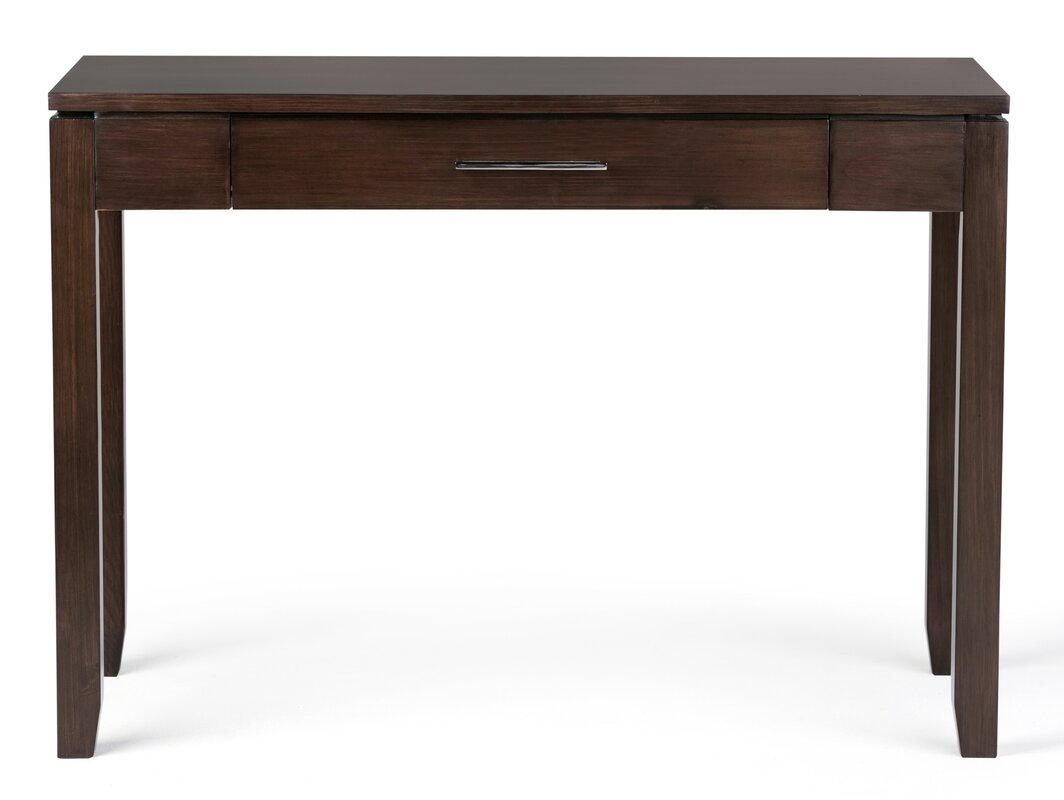 pleasurable long skinny desk. Cosmopolitan Writing Desk with Keyboard Tray Simpli Home  Reviews