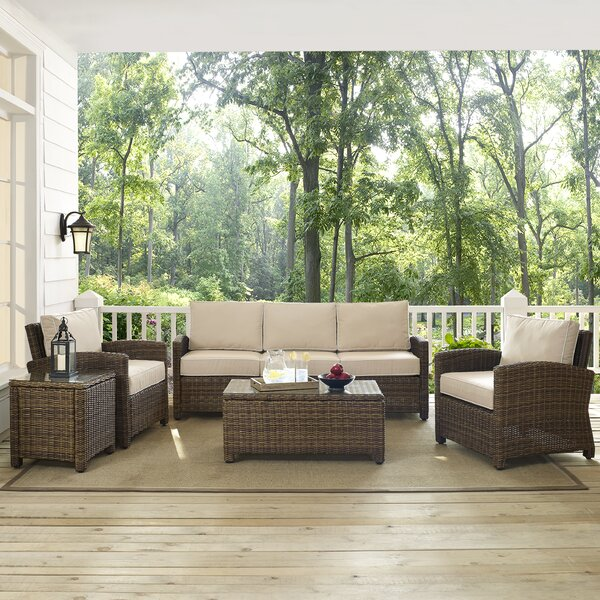 Dardel 5 Piece Sofa Seating Group With Cushions By Beachcrest Home