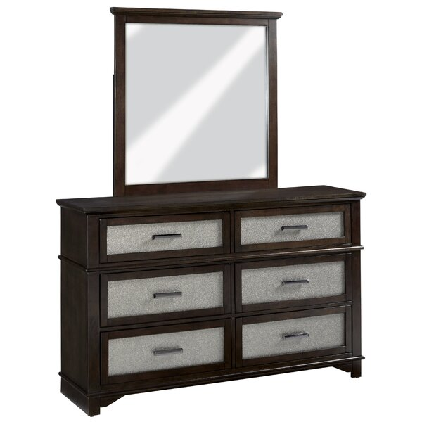 Larocco 6 Drawer Double Dresser with Mirror by Mercer41