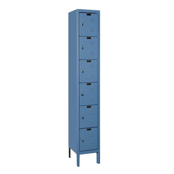 Premium 6 Tier 1 Wide Employee Locker by Hallowell