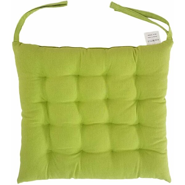 Melange 100% Cotton Square 16 x 16 Chair Cushions, Set of 2, Lime Green (Set of 2)