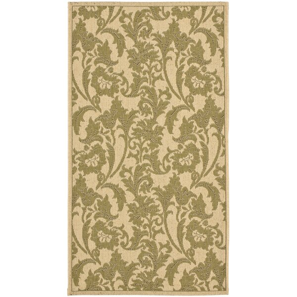 Herefordshire Cream / Green Indoor/Outdoor Area Rug by Winston Porter