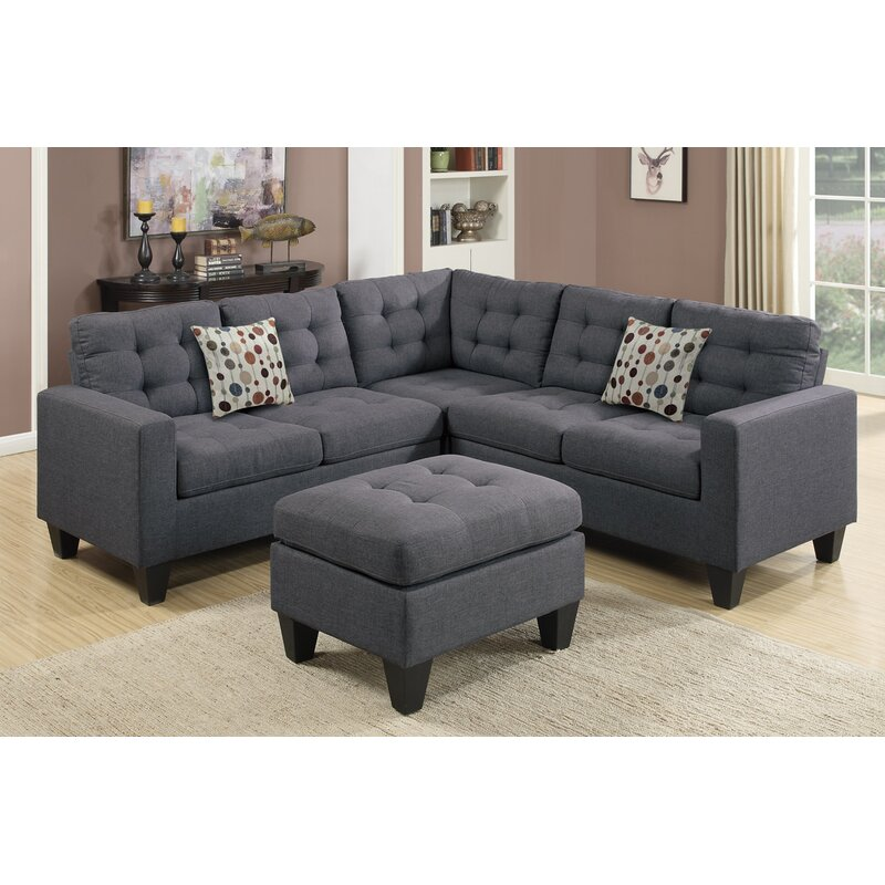 "Andover Mills Pawnee 84"" Symmetrical Sectional With"