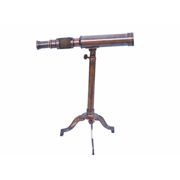 Floor Standing Refractor Telescope by Handcrafted Nautical Decor